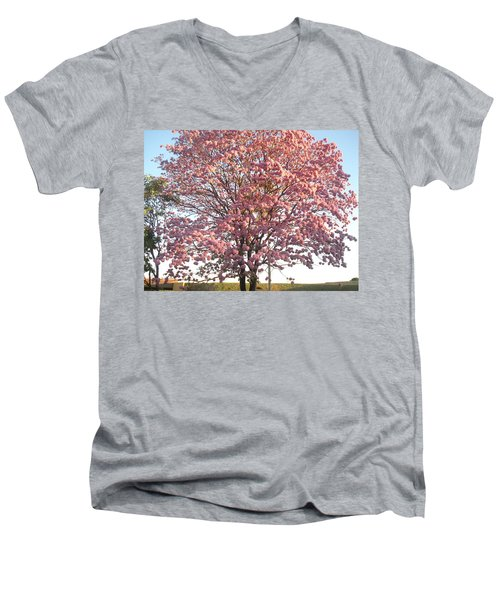 Flourish Men's V-Neck T-Shirt by Beto Machado