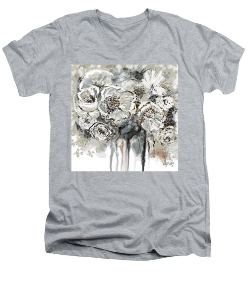 Floral Anxiety  Men's V-Neck T-Shirt