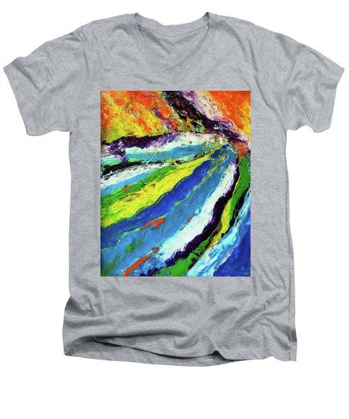 Flowage Men's V-Neck T-Shirt by Everette McMahan jr