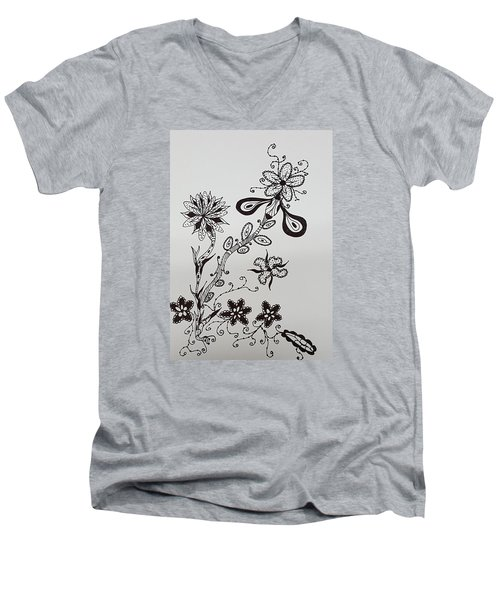 Flower 8 Men's V-Neck T-Shirt