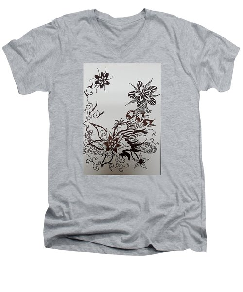 Flower 9 Men's V-Neck T-Shirt