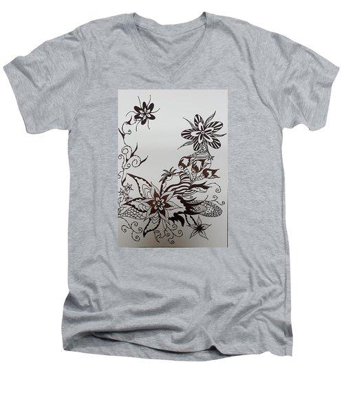 Flower 9 Men's V-Neck T-Shirt