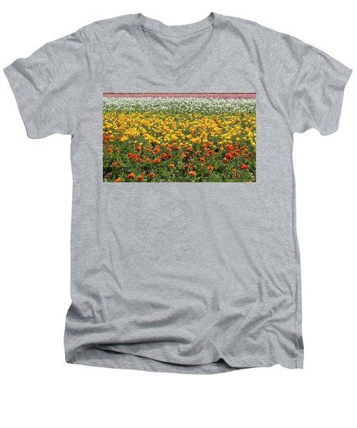 Flower Blanket From Carlsbad Men's V-Neck T-Shirt