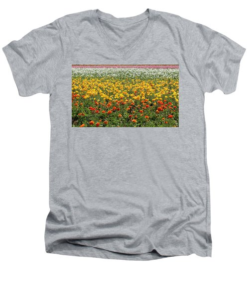 Flower Blanket From Carlsbad Men's V-Neck T-Shirt