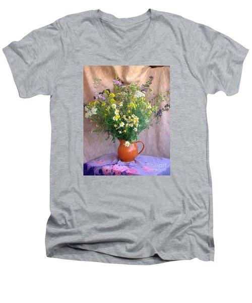 Flower Bouquet Men's V-Neck T-Shirt