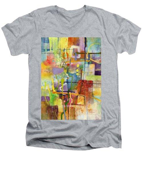 Flower Dance Men's V-Neck T-Shirt by Hailey E Herrera