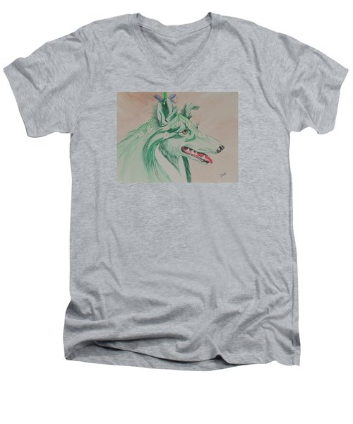 Flower Dog # 11 Men's V-Neck T-Shirt