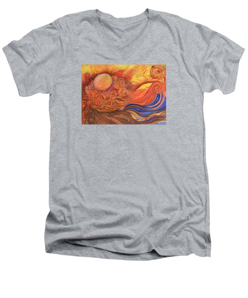 Flower Dream Men's V-Neck T-Shirt