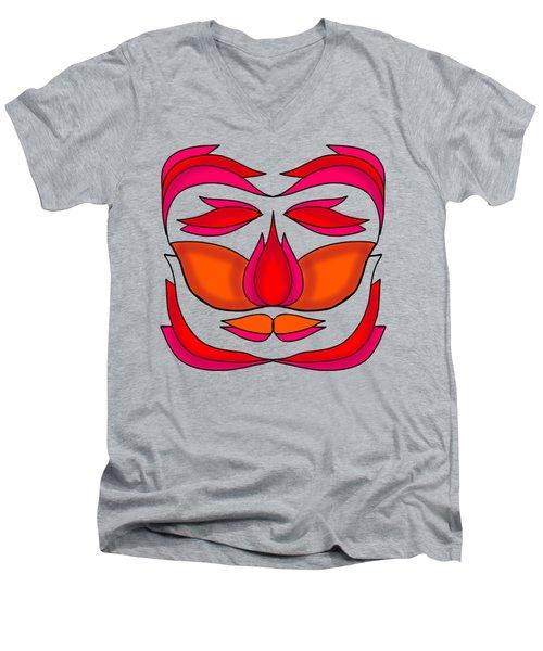 Flower Face Men's V-Neck T-Shirt