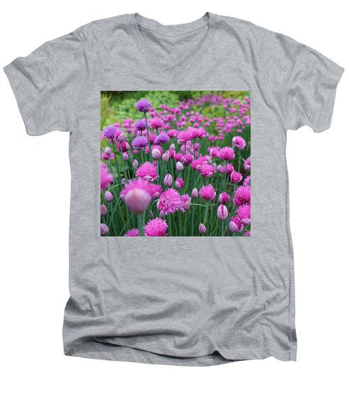 Whistler, British Columbia Men's V-Neck T-Shirt by Heather Vopni