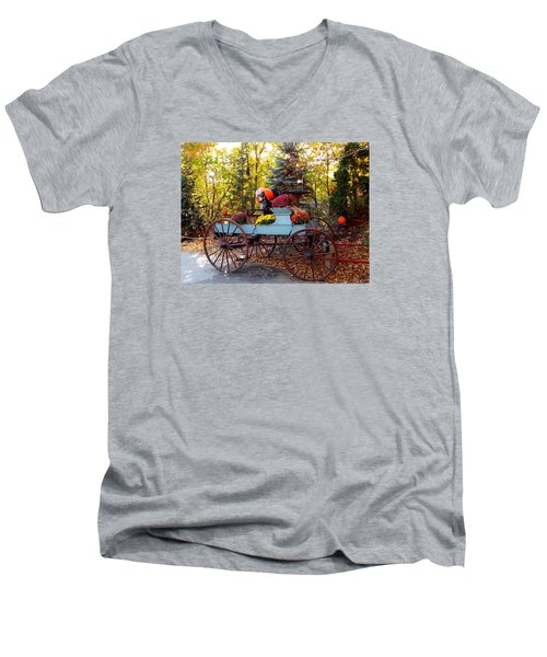 Flower Filled Wagon Men's V-Neck T-Shirt