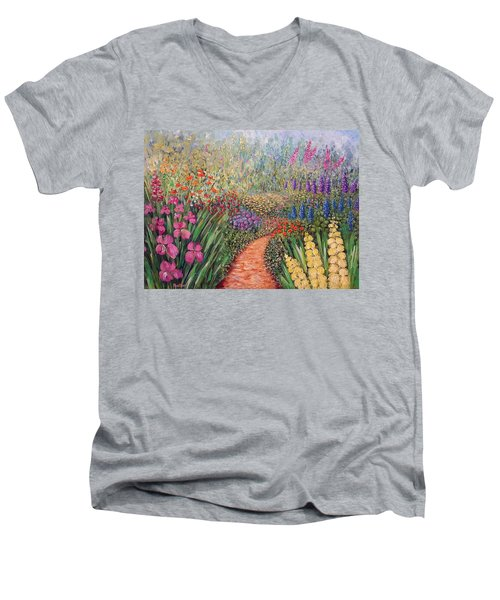 Flower Gar02den  Men's V-Neck T-Shirt