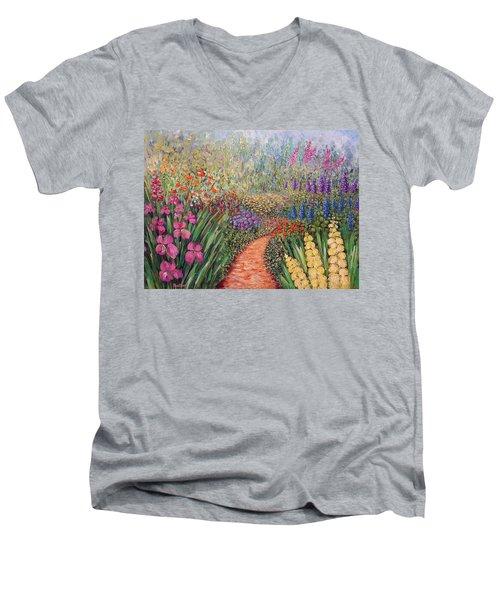 Flower Gar02den  Men's V-Neck T-Shirt