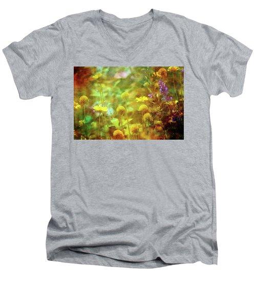 Flower Garden 1310 Idp_2 Men's V-Neck T-Shirt