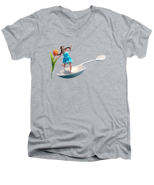 Flower Girl Men's V-Neck T-Shirt