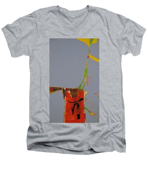 Flower In Pitcher- Abstract Of Course Men's V-Neck T-Shirt