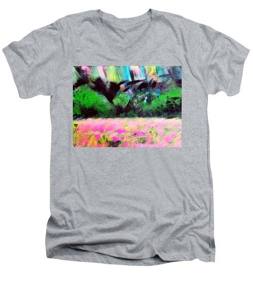 Flower Meadow Men's V-Neck T-Shirt
