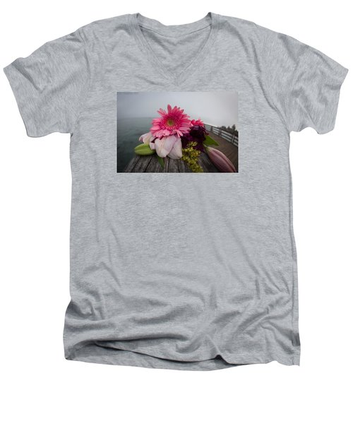 Men's V-Neck T-Shirt featuring the photograph We All Die Sometime by Lora Lee Chapman