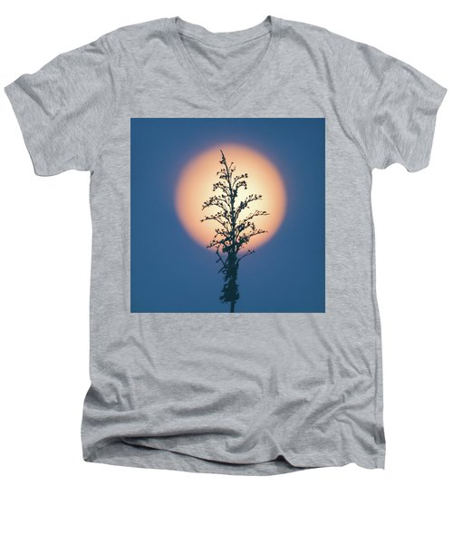Flower Moon May 2017 Square Men's V-Neck T-Shirt by Terry DeLuco