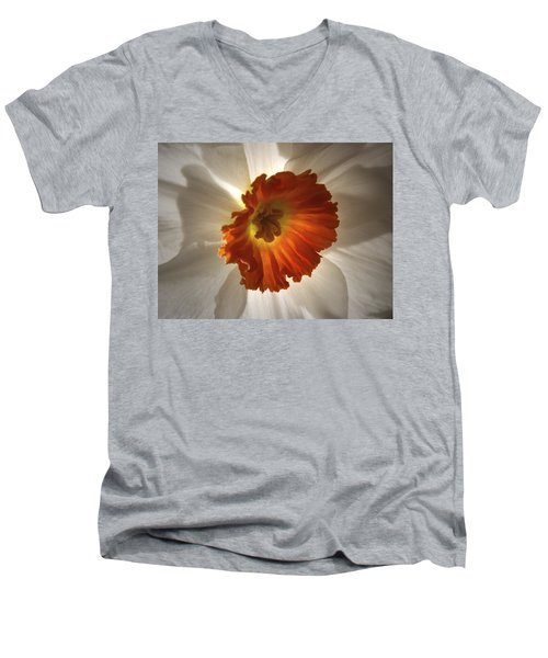 Men's V-Neck T-Shirt featuring the photograph Flower Narcissus by Nancy Griswold