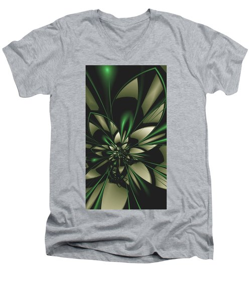Flower Of Art Men's V-Neck T-Shirt by Sheila Mcdonald