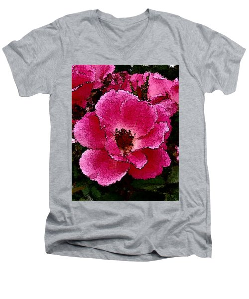 Flower Painting Collection 19 Men's V-Neck T-Shirt