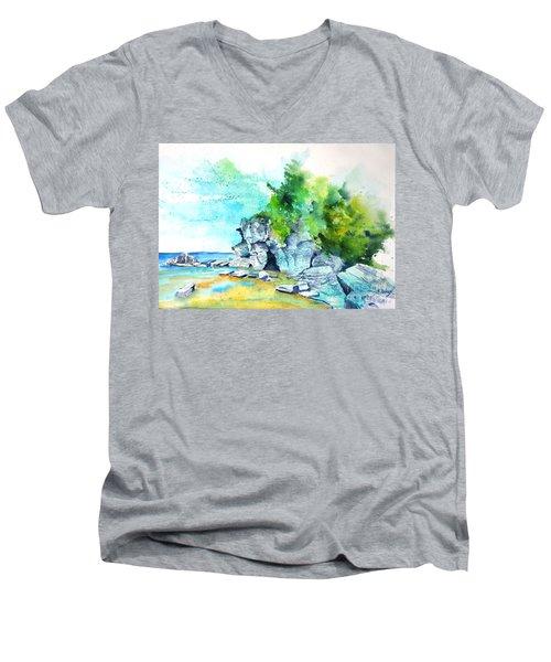 Flower Pot Island Men's V-Neck T-Shirt