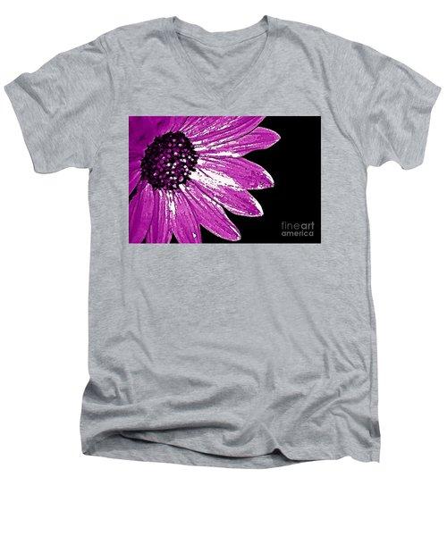 Flower Power  Men's V-Neck T-Shirt by Juls Adams