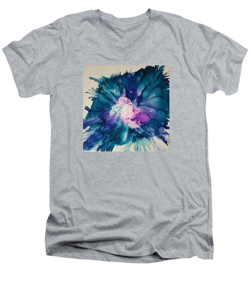Flower Power Men's V-Neck T-Shirt by Suzanne Canner