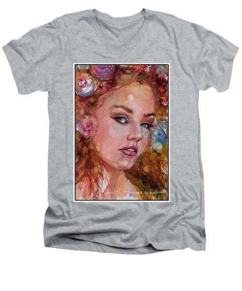 Flower Princess Men's V-Neck T-Shirt