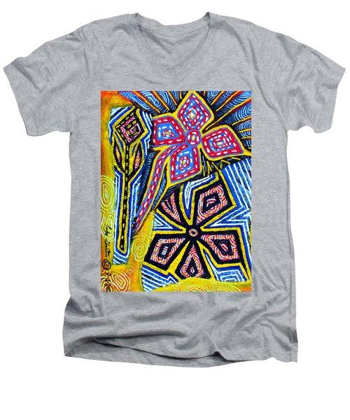 Flower Study Men's V-Neck T-Shirt by Luke Galutia