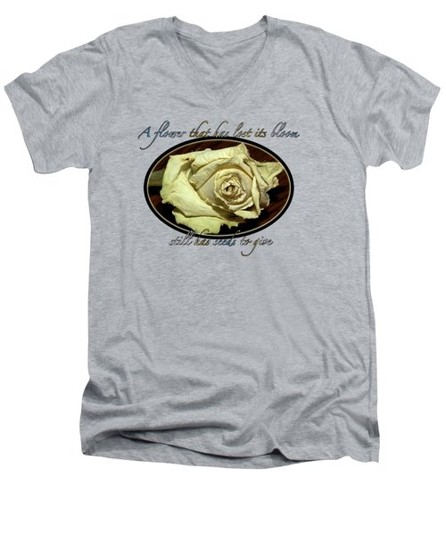 Flower Wisdom Men's V-Neck T-Shirt