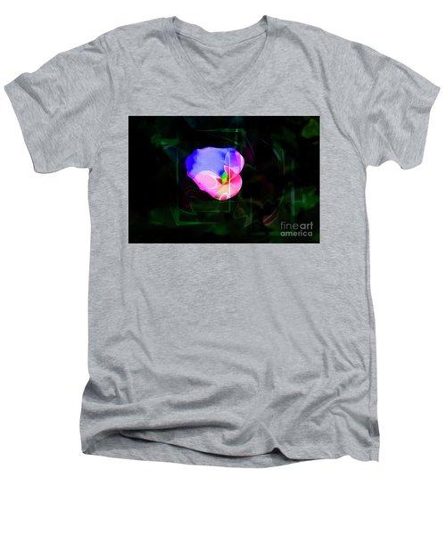 Men's V-Neck T-Shirt featuring the photograph Flower Wower by Al Bourassa
