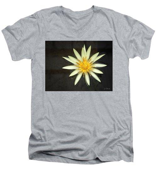 Flowerburst Men's V-Neck T-Shirt by Joe Bonita