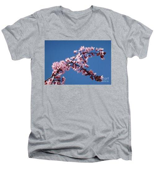 Flowering Of The Plum Tree 4 Men's V-Neck T-Shirt by Jean Bernard Roussilhe