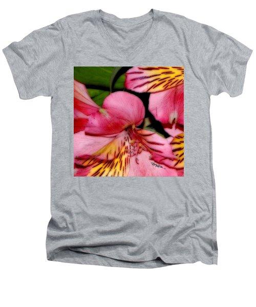 Flowers # 8728_1 Men's V-Neck T-Shirt