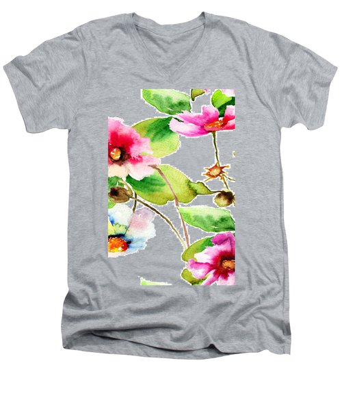 Flowers 03 Men's V-Neck T-Shirt