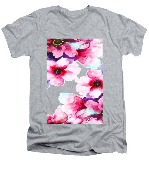 Flowers 04 Men's V-Neck T-Shirt