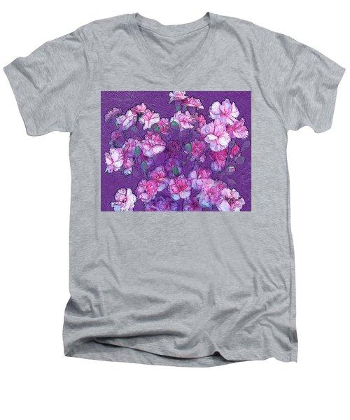 Flowers #063 Men's V-Neck T-Shirt by Barbara Tristan
