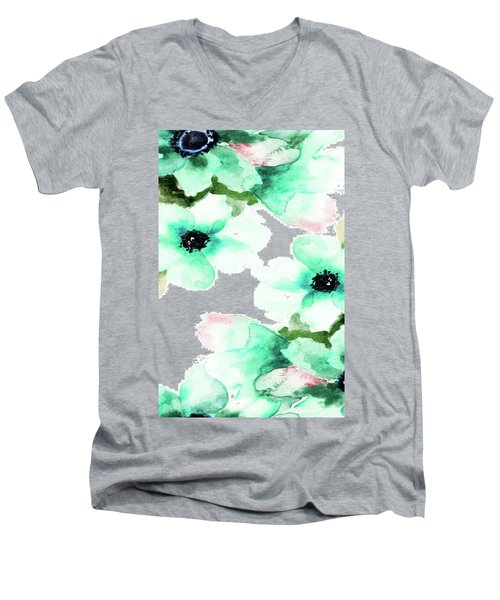 Flowers 07 Men's V-Neck T-Shirt
