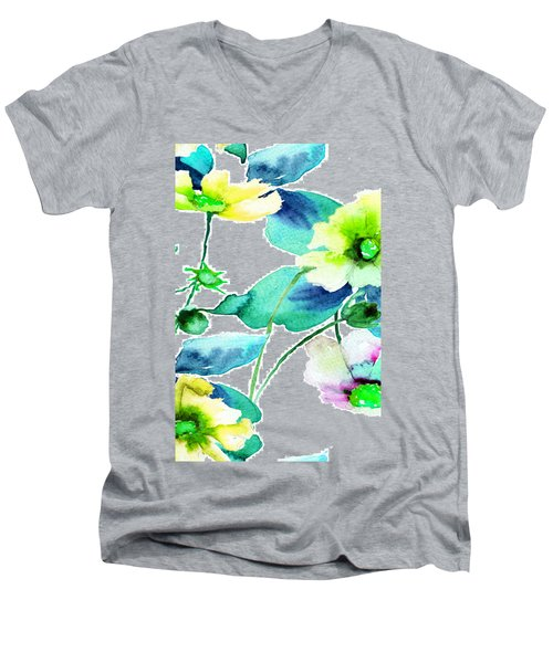 Flowers 08 Men's V-Neck T-Shirt
