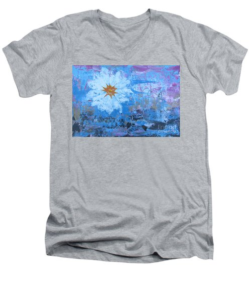 Flowers 19 Men's V-Neck T-Shirt