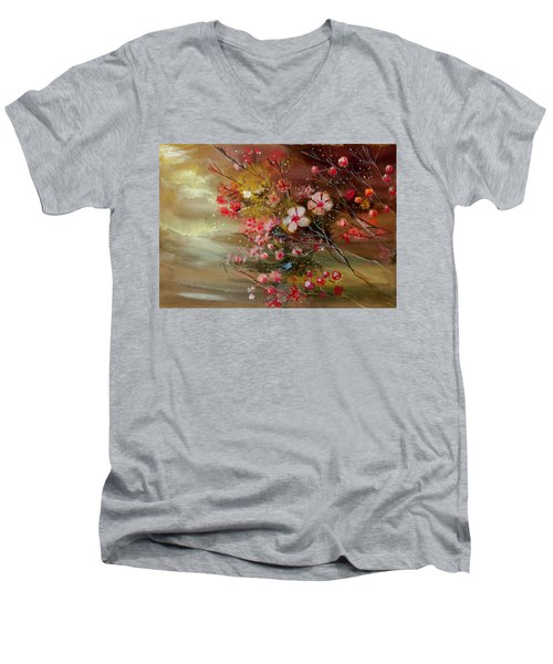 Flowers 2 Men's V-Neck T-Shirt