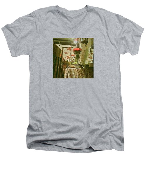 Flowers And Foliage Men's V-Neck T-Shirt