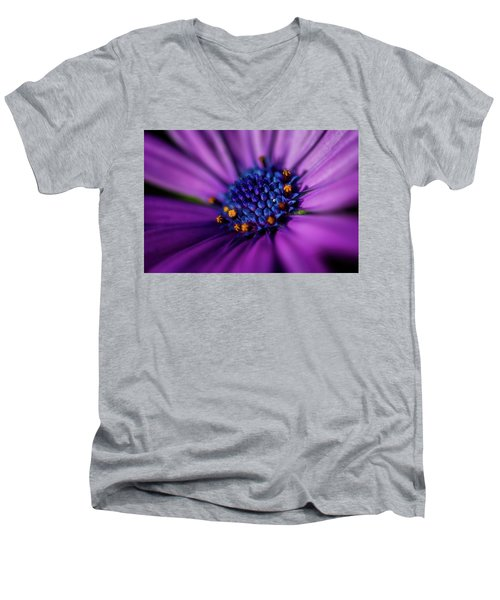 Men's V-Neck T-Shirt featuring the photograph Flowers And Sand by Darren White
