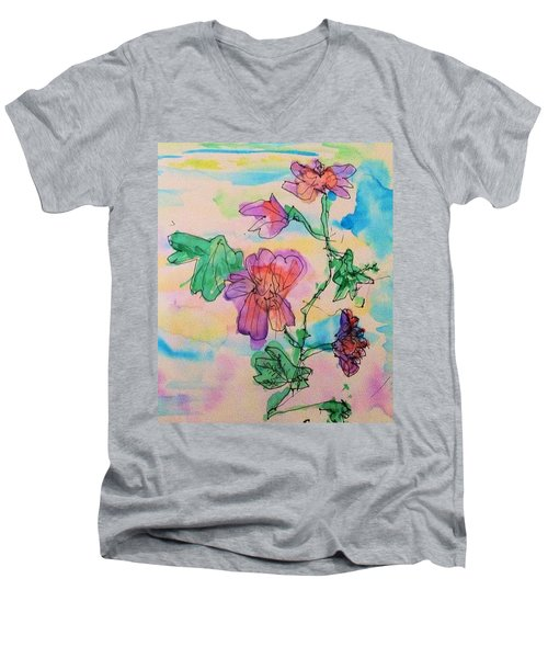 Flowers Are Blooming  Men's V-Neck T-Shirt