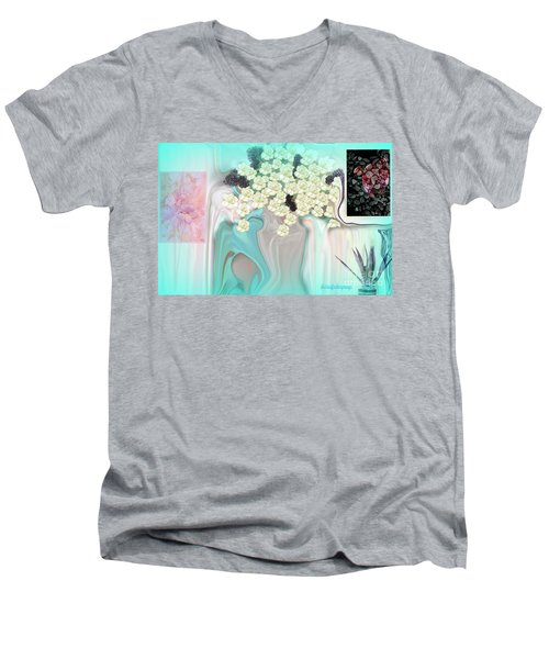 Water Please Men's V-Neck T-Shirt by Sherri's Of Palm Springs