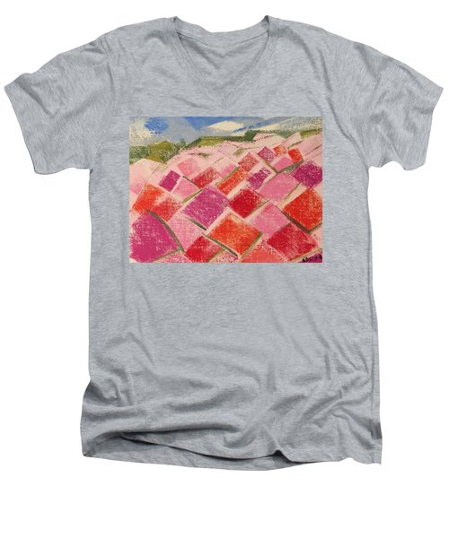 Flowers Fields Men's V-Neck T-Shirt