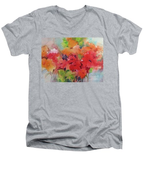Flowers For Peggy Men's V-Neck T-Shirt