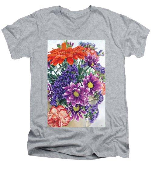 Flowers From Daughter Men's V-Neck T-Shirt